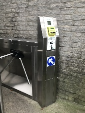 Contactless+Coin Tripod Turnstile